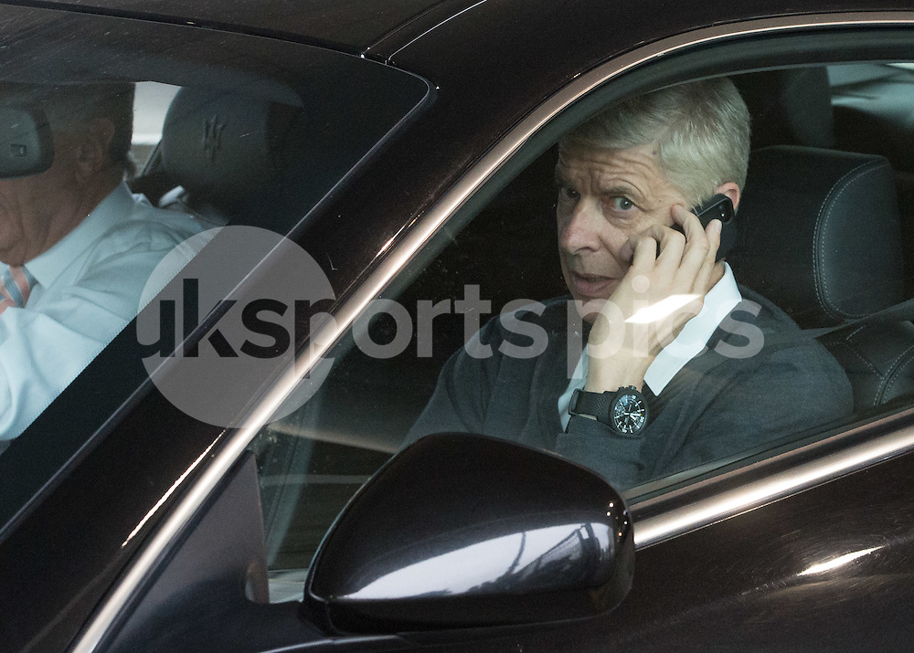 Arsène Wenger Arsenal manager and David Dein arrive at Wembley before the International Friendly match between England and Portugal at Wembley Stadium, London, England on 2 June 2016. Photo by Vince  Mignott.