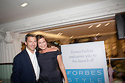 GRAHAM CLEMPSON; EMMA FORBES, Emma Forbes Style launch. Hix, Selfridges. 29 September 2010. -DO NOT ARCHIVE-© Copyright Photograph by Dafydd Jones. 248 Clapham Rd. London SW9 0PZ. Tel 0207 820 0771. www.dafjones.com.