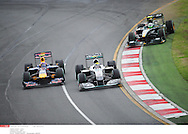 Grand Prix d'Australie de formule 1..Melbourne 28 mars 2010.. course. ..Photo: Stéphane Mantey/ L'Equipe *** Local Caption *** webber (mark) - (aus) -..rosberg (nico) - (ger) -..kovalainen (heikki) - (fin) -