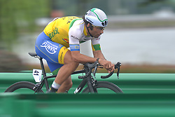 September 15, 2017 - Chenghu City, United States - Francisco Chamorro from Soul Brasil Pro Cycling Team during the fourth stage of the 2017 Tour of China 1, the 3.3 km Chenghu Jintang individual time trial. .On Friday, 15 September 2017, in Jintang County, Chenghu City,  Sichuan Province, China. (Credit Image: © Artur Widak/NurPhoto via ZUMA Press)