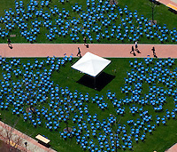 Aerial views of Chairs on the campus of the Univ of Delaware