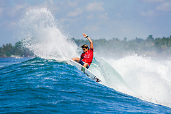 BALI, INDONESIA - MAY 19: Conner Coffin of the United States advances to Round 4 of the 2019 Corona Bali Protected after winning Heat 7 of Round 3 at Keramas on May 19, 2019 in Bali, Indonesia. (Photo by Damea Dorsey/WSL via Getty Images)