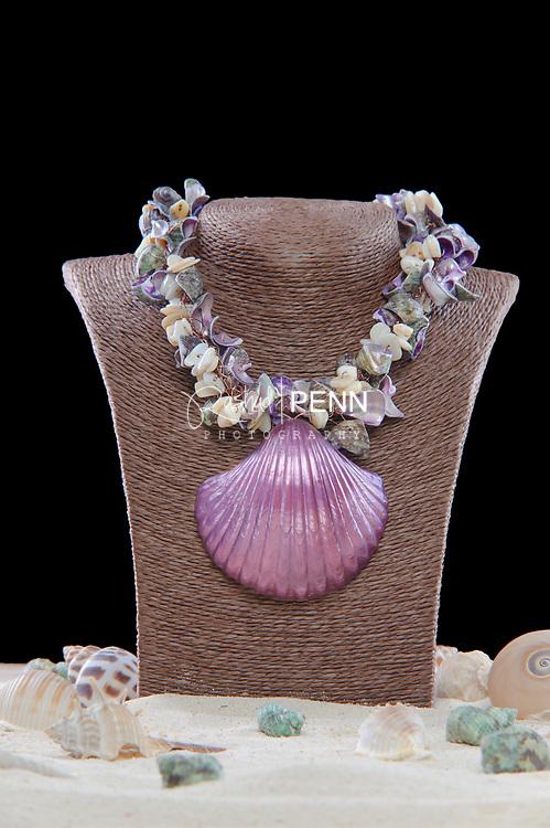 Beach shell necklace<br /> <br /> <br /> Photos by Rashad Penn Photography