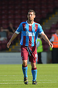 Sean McAllister  during the Sky Bet League 1 match between Scunthorpe United and Millwall at Glanford Park, Scunthorpe, England on 22 August 2015. Photo by Ian Lyall.