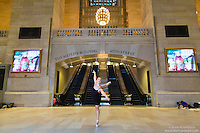Dancer Grand Central Terminal Dance As Art Photography Project featuring ballerina Hannah Bush