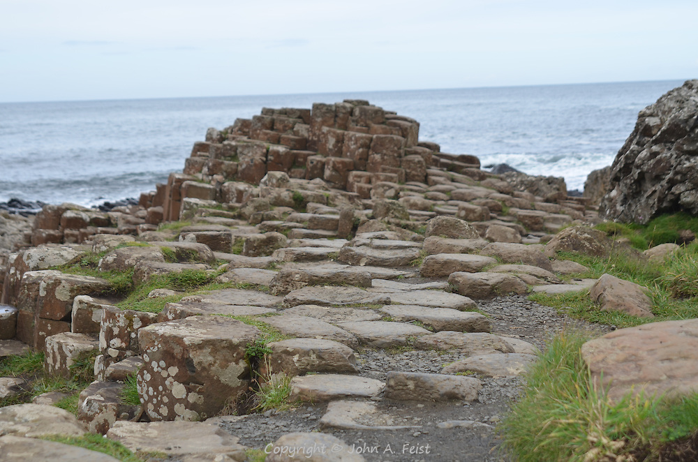 "Part of the ""paved"" route heading to Scotland.  Giant's Causeway, County Antrim, Northern ireland"