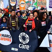 Shola Mos-Shogbamimu, Sandi Toksvig join March4Women 2020, on 8 March 2020, London, UK.