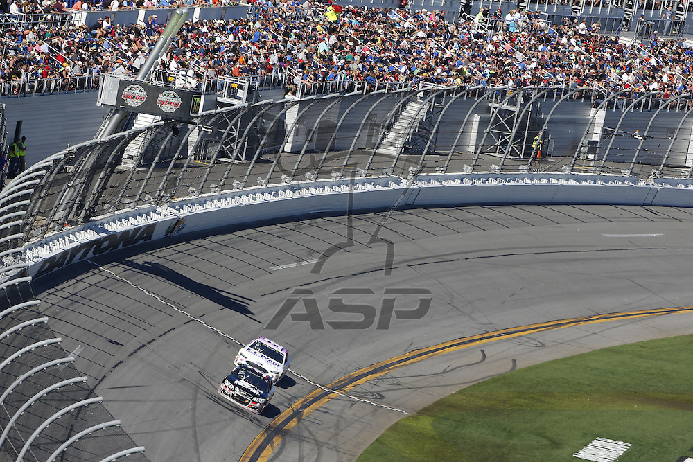 February 26, 2017 - Daytona Beach, Florida, USA: The Monster Energy NASCAR Cup Series teams take to the track for the Daytona 500 at Daytona International Speedway in Daytona Beach, Florida.
