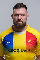 CLUJ-NAPOCA, ROMANIA, FEBRUARY 27: Romania's national rugby player Andrei Radoi pose for a headshot, on February 27, 2018 in Cluj-Napoca, Romania. (Photo by Mircea Rosca/Getty Images)