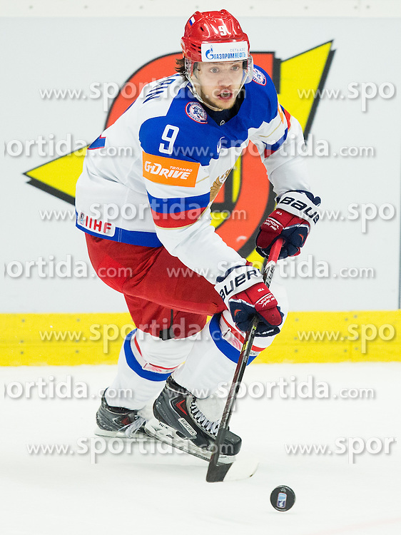 Artemi Panarin of Russia during Ice Hockey match between Russia and Denmark at Day 6 in Group B of 2015 IIHF World Championship, on May 6, 2015 in CEZ Arena, Ostrava, Czech Republic. Photo by Vid Ponikvar / Sportida