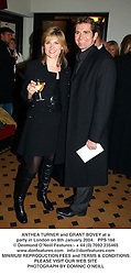 ANTHEA TURNER and GRANT BOVEY at a party in London on 8th January 2004.PPS 168