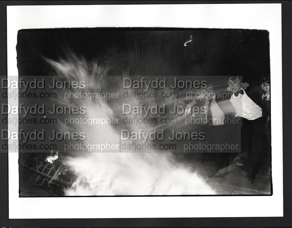 Burning boat, Oriel, Oxford. 1981
