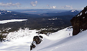 The view toward Klamath Lake from Mt McLoughlin in central Oregon. Perfect spring backcountry ski tour