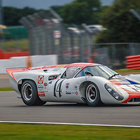 14, Lola T70 MK3B, driver: BRYANT, Grahame, BRYANT, Oliver, 5000cc, White/Red, 1969, FIA Masters Histiroc Sports Cars, Silverstone Classic, 29 July 2016