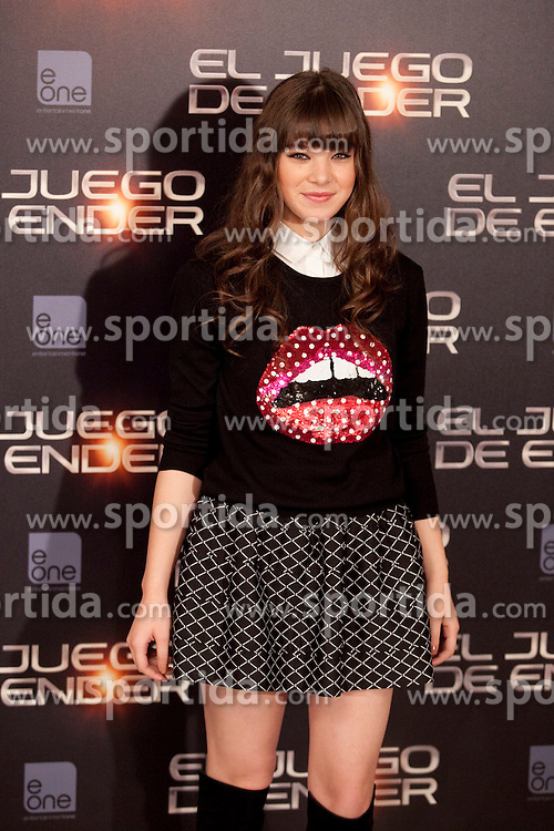 03.10.2013, Villa Magna Hotel, Madrid, ESP, Enders Game Photocall, im Bild Actress Hailee Steinfeld poses // during a photocall for the film Ender's Game, Villa Magna Hotel, Madrid, Spain on 2013/10/03. EXPA Pictures &copy; 2013, PhotoCredit: EXPA/ Alterphotos/ Ricky Blanco<br /> <br /> ***** ATTENTION - OUT OF ESP and SUI *****