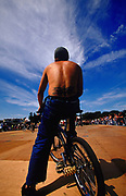 BMX rider Back Yard Jam BMX event Hastings UK 2002