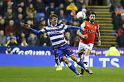 John Swift (10) of Reading during the EFL Sky Bet Championship match between Reading and Luton Town at the Madejski Stadium, Reading, England on 9 November 2019.