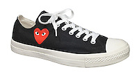 Converse Comme Des Garcons Play black shoe on white background