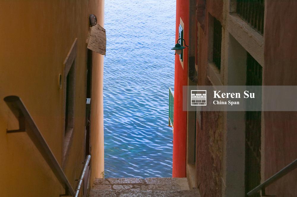 Houses by Adriatic Sea, Rovinj, Istria, Croatia