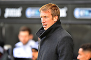 Swansea City manager Graham Potter during the EFL Sky Bet Championship match between Swansea City and Reading at the Liberty Stadium, Swansea, Wales on 27 October 2018.
