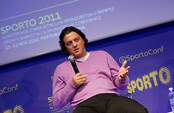 Zlatko Zahovic of NK Maribor  during sports marketing and sponsorship conference Sporto 2011, on November 22, 2011 in Hotel Slovenija, Congress centre, Portoroz / Portorose, Slovenia. (Photo By Vid Ponikvar / Sportida.com)