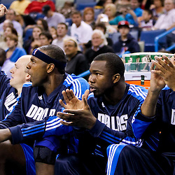 November 17, 2010; New Orleans, LA, USA; Dallas Mavericks players cheer from the bench during the first half against the New Orleans Hornets at the New Orleans Arena. Mandatory Credit: Derick E. Hingle