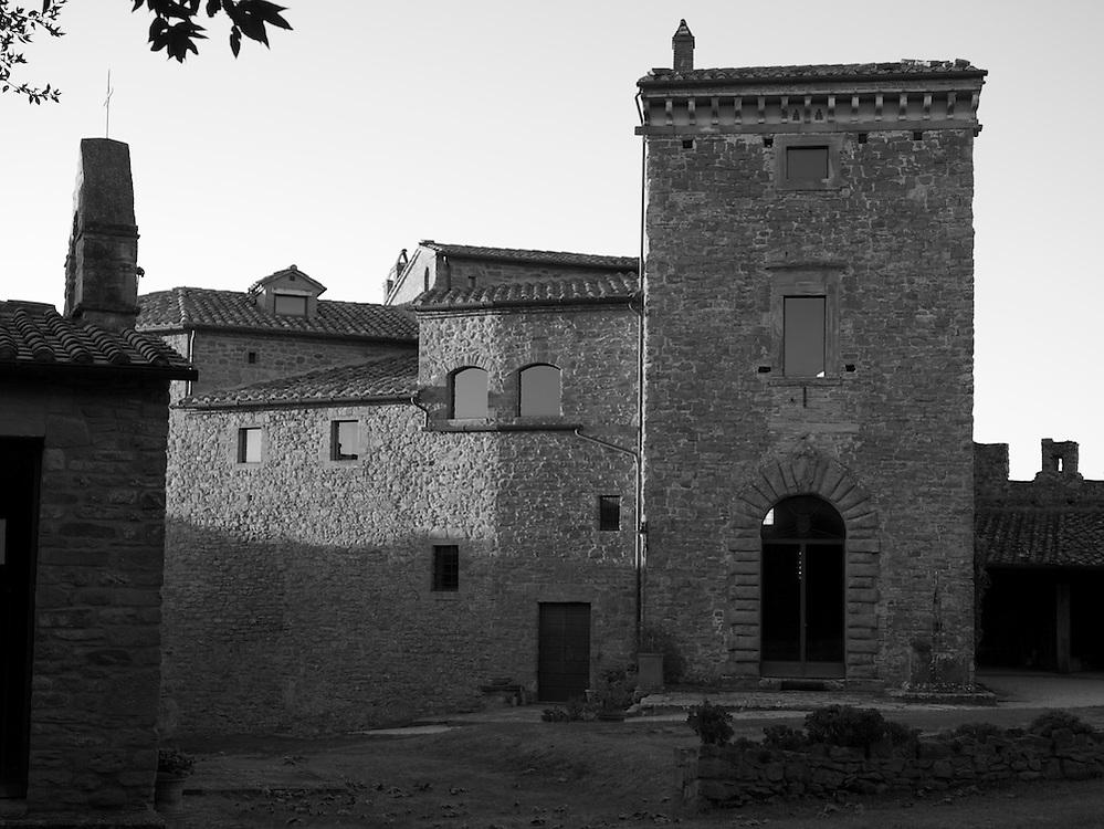 Il Castello di Montegualandro inside wall, Italy