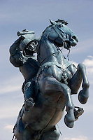 Equestrian Statue at El Paso International Airport is the worlds largest of a horse and rider.