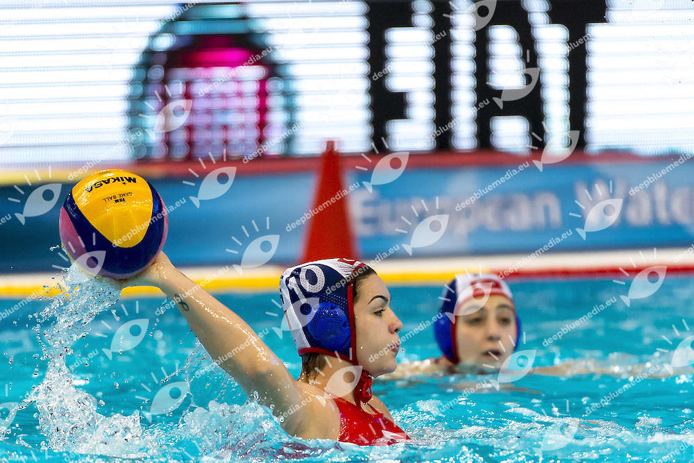 10 KUS Kubra TUR<br /> HUN -  TUR Women Hungary (White Cap) Vs. Turkey (Blue caps)<br /> LEN European Water Polo Championships 2016<br /> Kombank Arena, Belgrade, Serbia <br /> Day05  14-01-2016<br /> Photo G.Scala/Insidefoto/Deepbluemedia