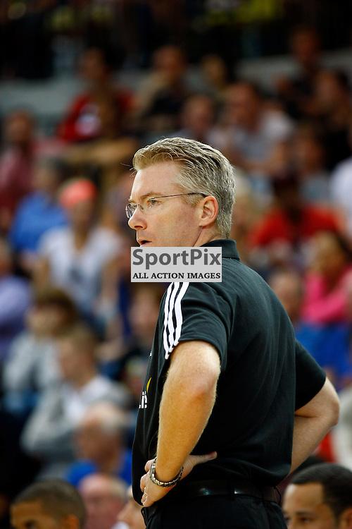 GB men vs Puerto Rico basketball at the Copper Box Arena. GB coach Joe Prunty. 11/08/2013 (c) MATT BRISTOW