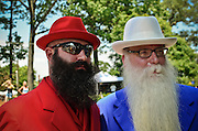 Anthony Francolino and Vic Martinson at the first ever Uptown Pitman Beard & Moustache  Competion.