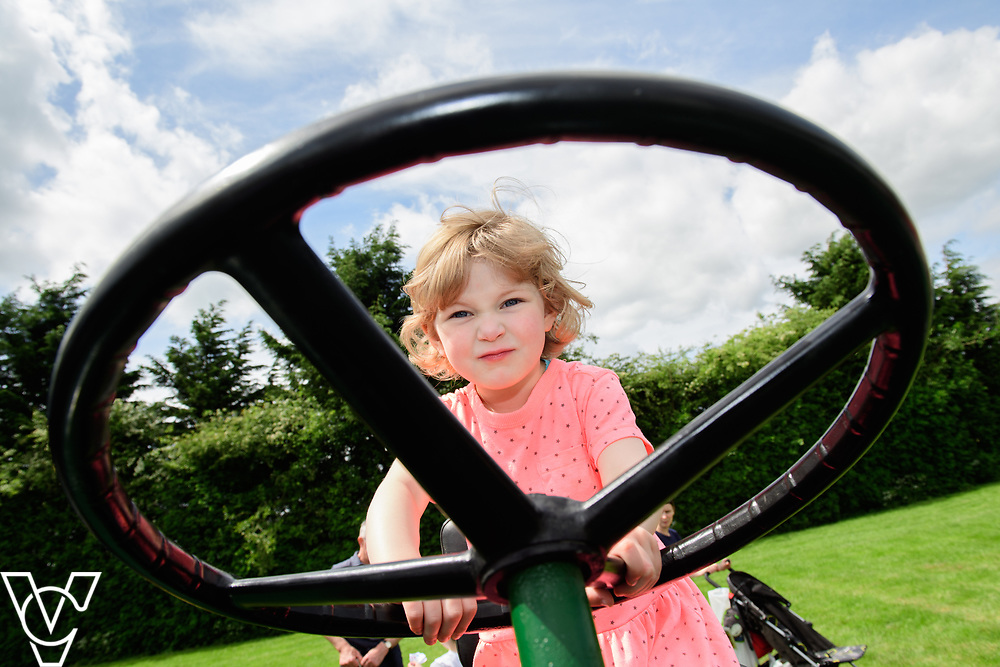 As part of Open Farm Sunday, May Park's Barr Farm in Billinghay, Lincolnshire, was open to the public.  Pictured is Ola Vaughan (three) on a tractor.<br /> <br /> PIcture: Chris Vaughan Photography<br /> Date: May 21, 2017