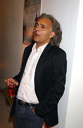 Screenwriter HANIF KUREISHI a at a party to celebrate the publication of 'Shalimar The Clown' by Salman Rushdie, held at the David Gill Galleries, 3 Loughborough Street, London SE11 on 7th September 2005.<br /><br />NON EXCLUSIVE - WORLD RIGHTS