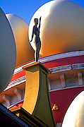 SPAIN, COSTA BRAVA, FIGUERES Surrealist sculpture at Teatro-Museo Dali