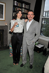 BELLA FREUD and MARCEL ODENBACH at a dinner hosted by Bella Freud for German artist Marcel Odenbach at her home 275 Kensal Road, London W10 on 6th June 2011.
