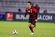 Flamengo defender Rodrigo Caio (3) in action during a Florida Cup match at Orlando City Stadium on Jan. 10, 2019 in Orlando, Florida. <br /> Flamengo won in penalties 4-3.<br /> <br /> ©2019 Scott A. Miller