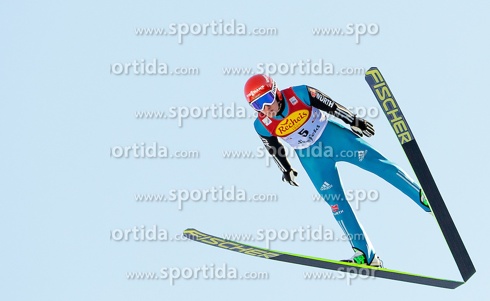 30.01.2016, Casino Arena, Seefeld, AUT, FIS Weltcup Nordische Kombination, Seefeld Triple, Skisprung, Probedurchgang, im Bild Manuel Faisst (GER) // Manuel Faisst of Germany competes during his Trial Jump of Skijumping of the FIS Nordic Combined World Cup Seefeld Triple at the Casino Arena in Seefeld, Austria on 2016/01/30. EXPA Pictures © 2016, PhotoCredit: EXPA/ JFK