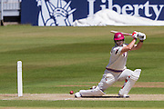 Jim Allenby (Somerset County Cricket Club)in action during the LV County Championship Div 1 match between Durham County Cricket Club and Somerset County Cricket Club at the Emirates Durham ICG Ground, Chester-le-Street, United Kingdom on 9 June 2015. Photo by George Ledger.