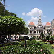 A view of Ho Chi Minh City Hall in Ho Chi Minh City, Vietnam. 3rd March 2012. Photo Tim Clayton
