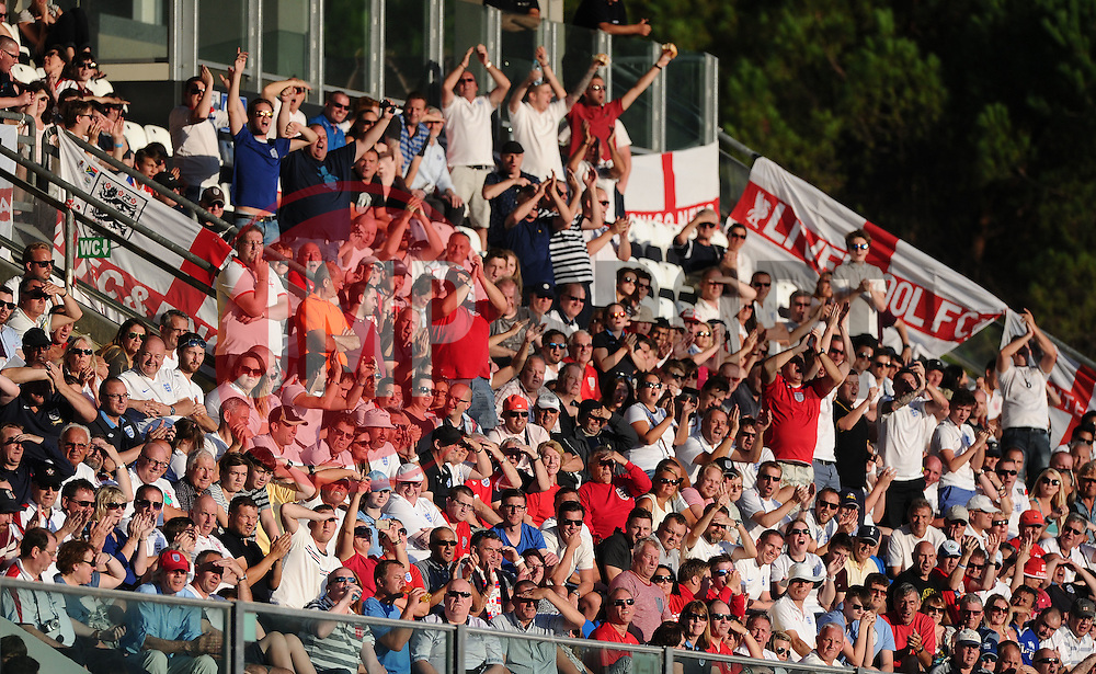 England fans cheer the goal from Wayne Rooney of England (Manchester United)  - Mandatory byline: Joe Meredith/JMP - 07966386802 - 05/09/2015 - FOOTBALL- INTERNATIONAL - San Marino Stadium - Serravalle - San Marino v England - UEFA EURO Qualifers Group Stage