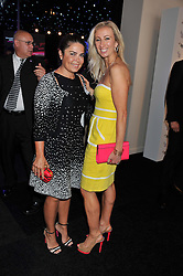 Left to right, DANIELLA ISSA HELAYEL and JENNY HALPERN at the F1 Party in aid of Great Ormond Street Hospital Children's Charity held at Battersea Evolution, Battersea Park, London on 4th July 2012.