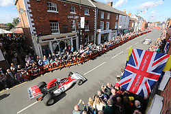 The small market town of Bourne in Lincolnshire turned into Monaco for the day as the town celebrated the 1962 Grand Prix World Championship win by BRM with Graham Hill driving for them. BRM racing was based in the small Linconshire town from 1948. Today many faces from the world of motor sports gathered in the town to celebrate fifty years since BRM  wining the world championships, October 7, 2012. Photo by Tim Scrivener / i-Images.