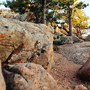 Heather Goodrich rides the Stone Temple Circuit Trail in Curt Gowdy State Park in Eastern Wyoming.