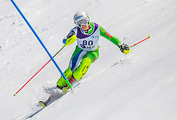 80# Vranicar Oto from Slovenia during the slalom of National Championship of Slovenia 2019, on March 24, 2019, on Krvavec, Slovenia. Photo by Urban Meglic / Sportida