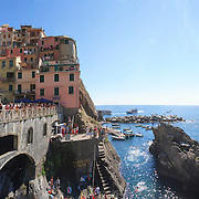 Italy, Liguria, panoramic images of Cinque Terre