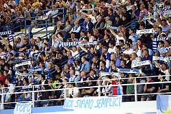 """Foto Filippo Rubin<br /> 18/05/2017 Ferrara (Italia)<br /> Sport Calcio<br /> Spal vs Bari - Campionato di calcio Serie B ConTe.it 2016/2017 - Stadio """"Paolo Mazza""""<br /> Nella foto: I TIFOSI DELLA SPAL<br /> <br /> Photo Filippo Rubin<br /> May 18, 2016 Ferrara (Italy)<br /> Sport Soccer<br /> Spal vs Bari - Italian Football Championship League B ConTe.it 2016/2017 - """"Paolo Mazza"""" Stadium <br /> In the pic: Spal's fans"""