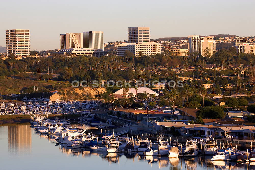 Fashion Island And The Back Bay In Newport Beach Orange County, California