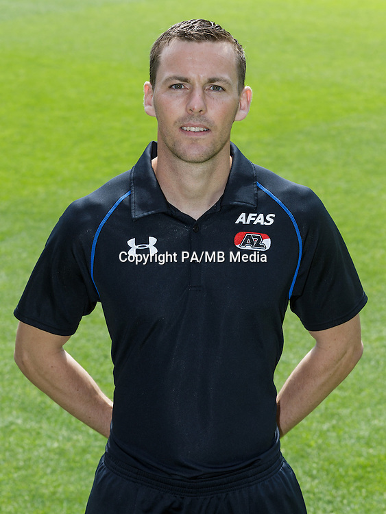 Niels Kok during the team photocall of AZ Alkmaar on July 17, 2015 at Afas Stadium in Alkmaar, The Netherlands