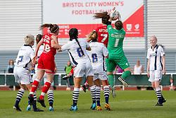 Chloe Arthur of Bristol City Women tries to get her head to the ball - Mandatory byline: Rogan Thomson/JMP - 09/07/2016 - FOOTBALL - Stoke Gifford Stadium - Bristol, England - Bristol City Women v Milwall Lionesses - FA Women's Super League 2.
