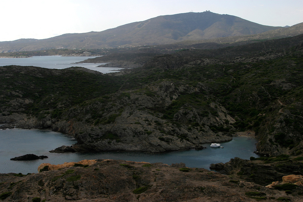 The shore of Cap de Creus Natural Park next to the village of  Cadaques on the Costa Brava northeastern coast of Spain Monday September 25. 2006 ....This is the aria that Salvador Dali was living and gets his inspiration for panting.......
